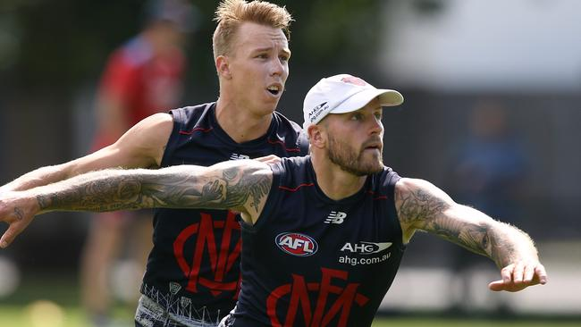 Nathan Jones was in superb condition at training. Picture: Wayne Ludbey