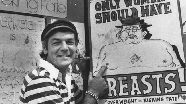Larry Pickering (above) has always enjoyed poking fun at 'man boobs', as Bill Shorten learnt on the recent election campaign. Picture: News Corp
