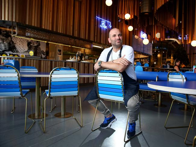 In a statement to The Daily Telegraph, Calombaris said he was not proud of his actions at the game. Picture: Adam Head