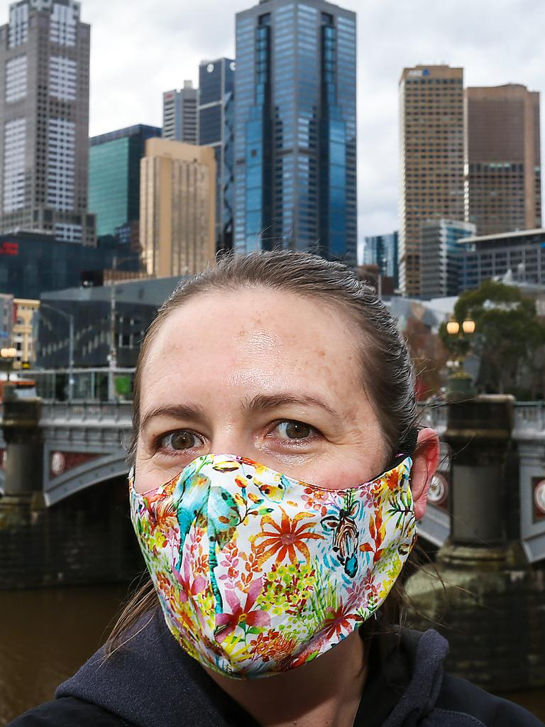 Triple layer cotton masks got the tick of approval. Picture: Ian Currie/NCA NewsWire