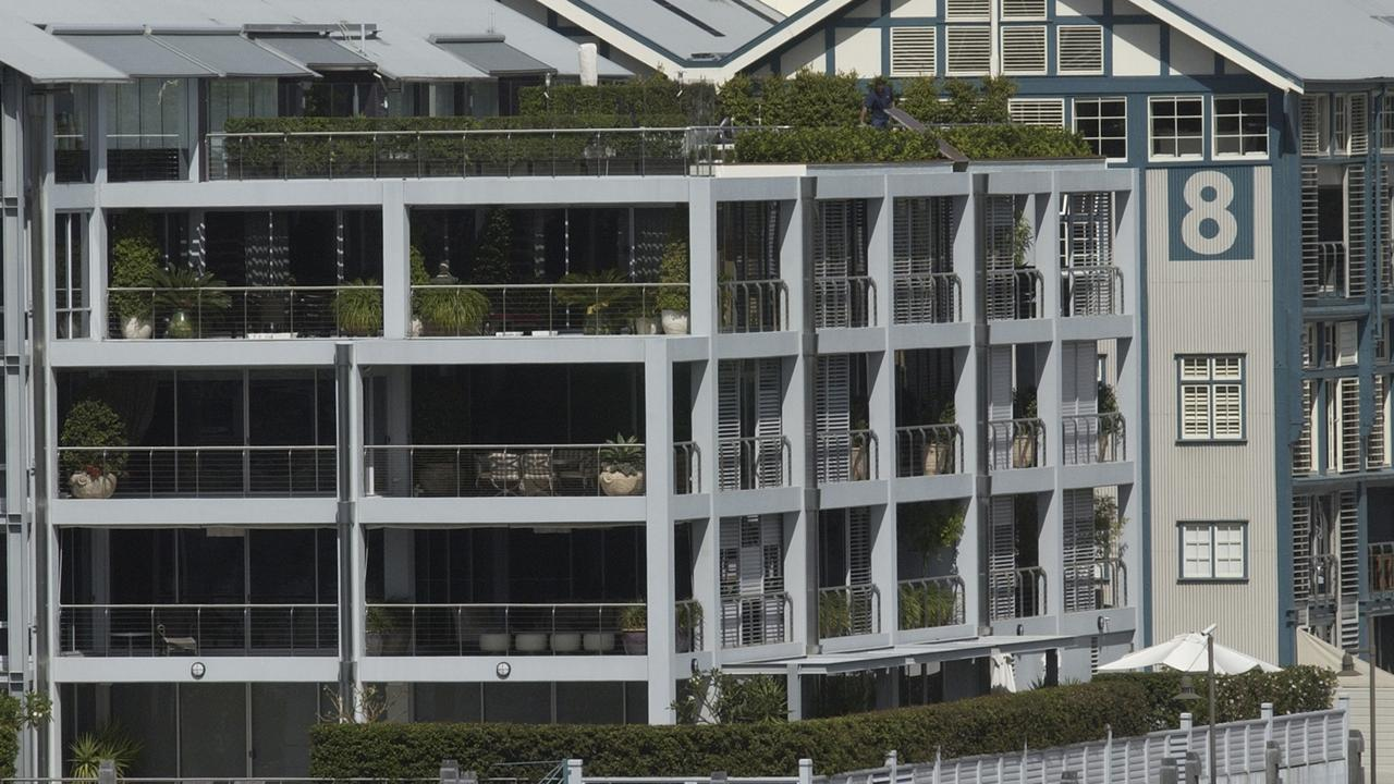 Crowe spent a record $14 million for this penthouse apartment overlooking Sydney Harbour at the end of the exclusive Woolloomooloo Finger Wharf. Picture: Getty