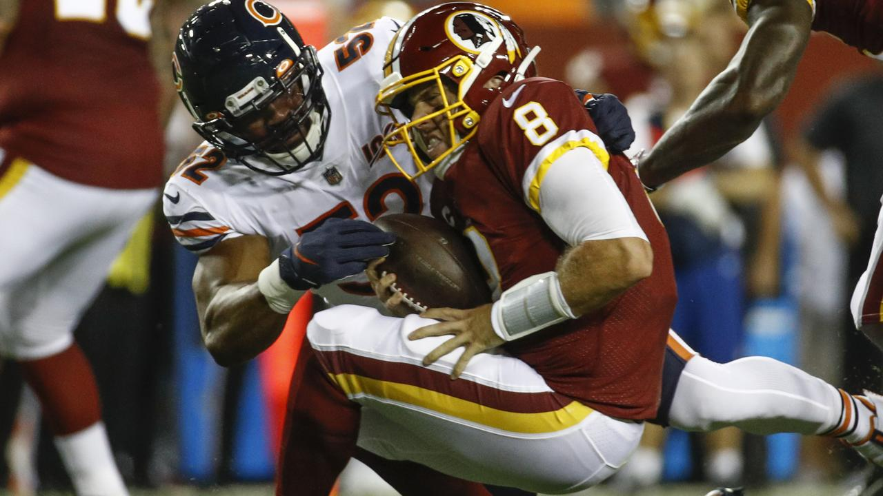 Winless Washington Redskins 'tormented' by 'savage' Khalil Mack as Chicago Bears offence also gets back on track