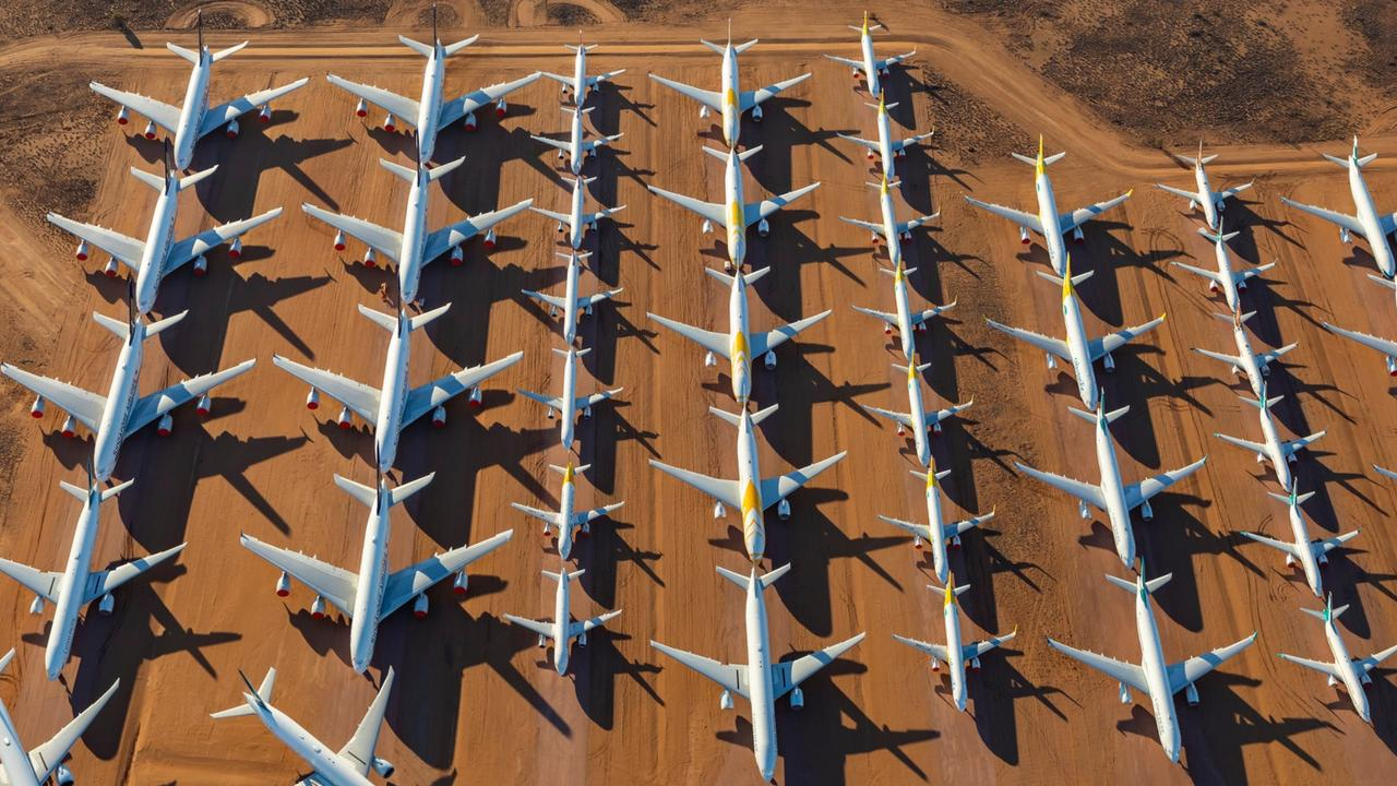 The desert provides the ideal conditions for long-term storage of aircraft. Picture: Seth Jaworski