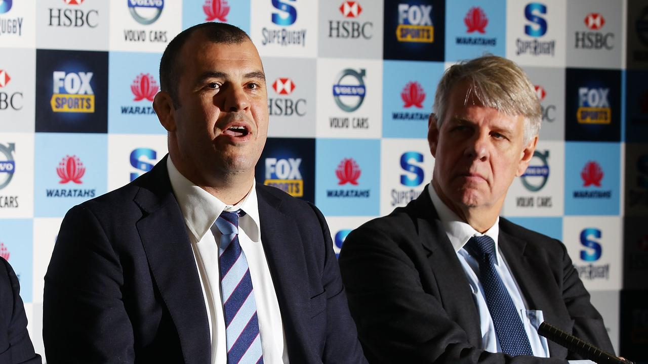 Outgoing Waratahs Chairman Roger Davis, who was pivotal in bringing in Michael Cheika, will stand aside at the NSW Rugby's AGM on May 31. Getty Images