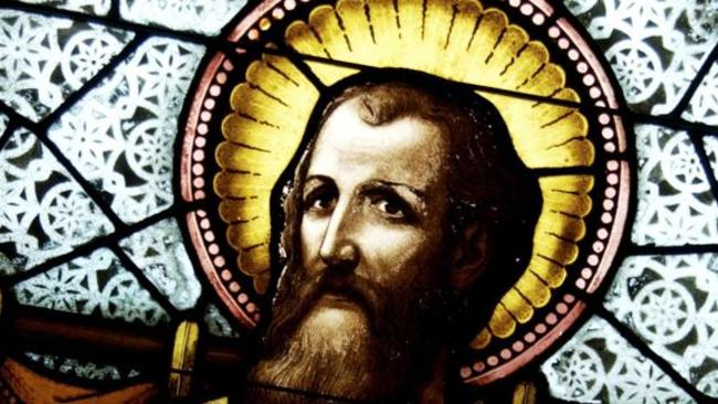 Jesus Christ on stained glass window