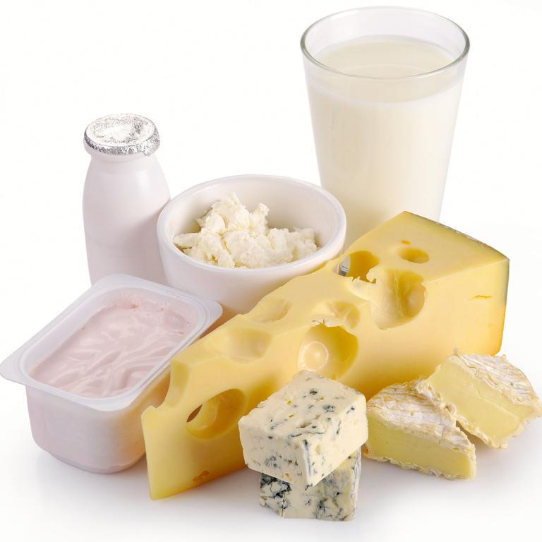 Dairy products - yoghurt, milk and cheese food varieties.