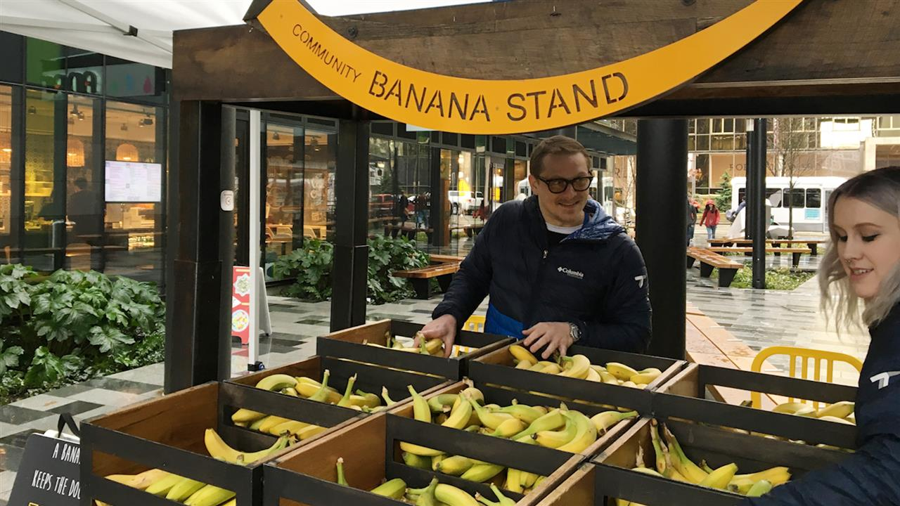 Amazon Offers Up Free Bananas at Community Stands