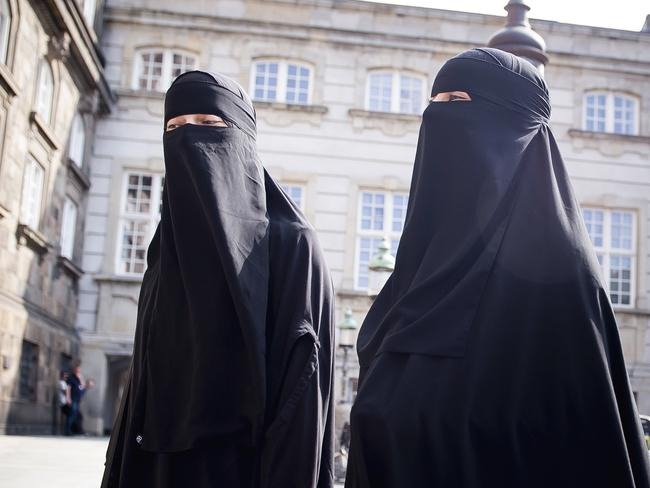 Denmark has joined some other European countries in banning garments that cover the face, including Islamic veils such as the niqab or burqa. Picture: Mads Claus Rasmussen/Ritzau Scanpix via AP
