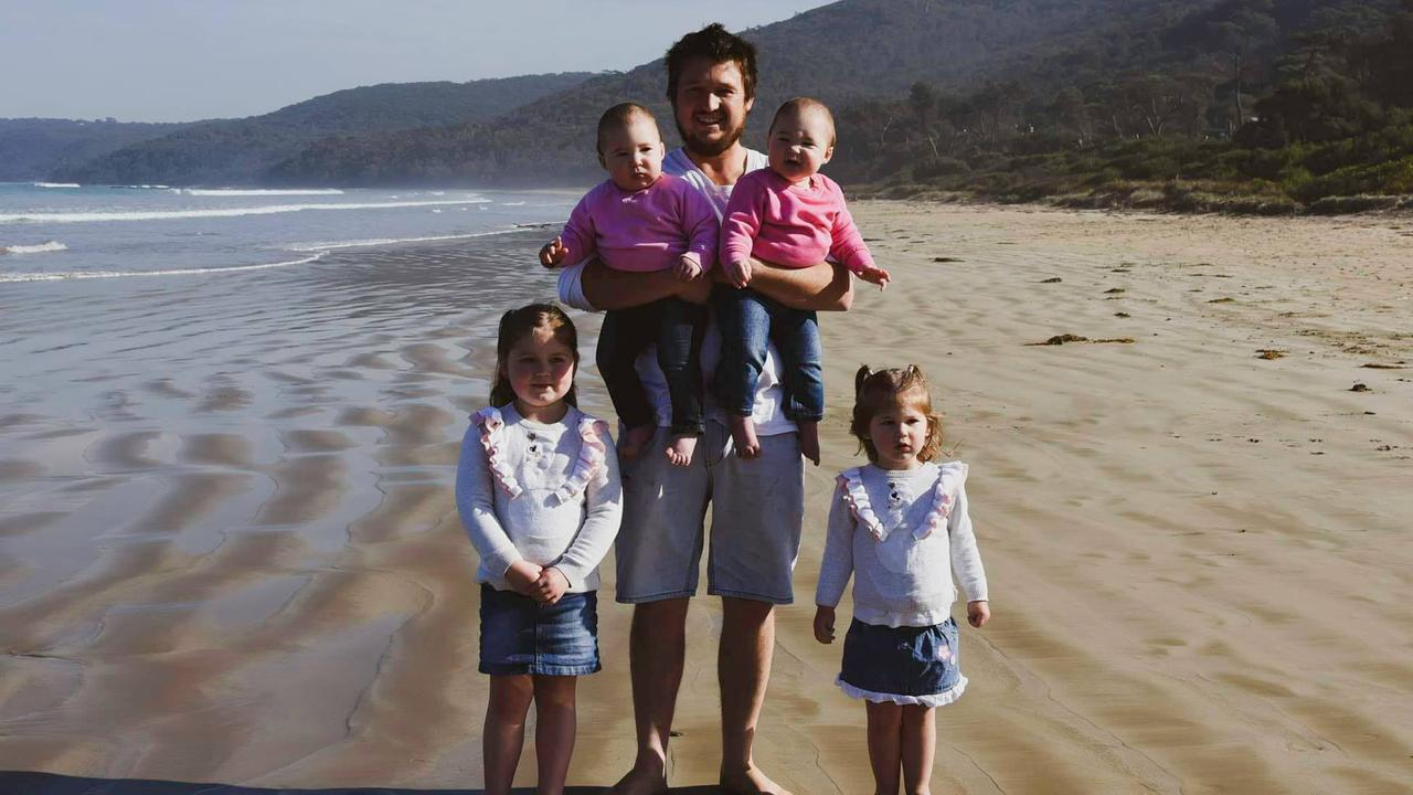 Her husband Tom he is now planning to take six months off work to care for his wife and their four young girls. Picture: Supplied