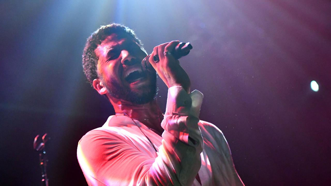 Jussie Smollett performed onstage in West Hollywood, the first time since his attack. Picture: Getty