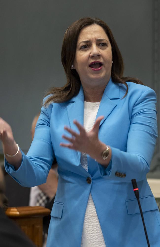 Queensland Premier Annastacia Palaszczuk speaks at parliament. NCA NewsWire / Sarah Marshall