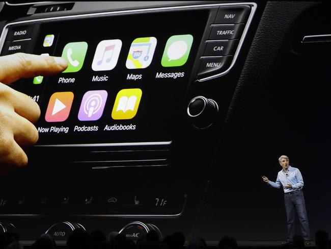 Craig Federighi, Apple's senior vice president of software engineering, says augmented reality is coming to the iPhone. Picture: Marcio Jose Sanchez/AP