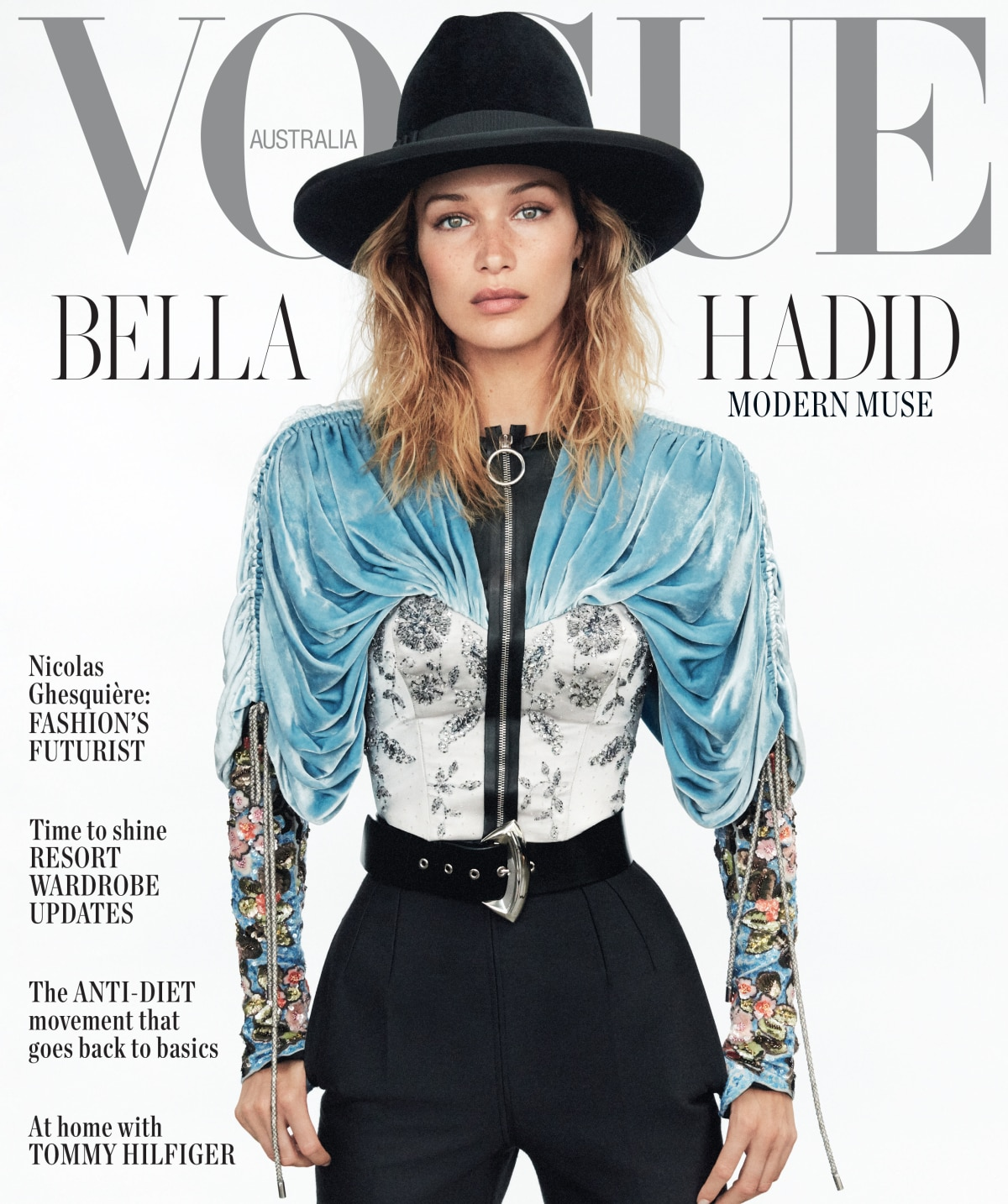 Bella Hadid stars on the cover of Vogue Australia's November 2019 issue