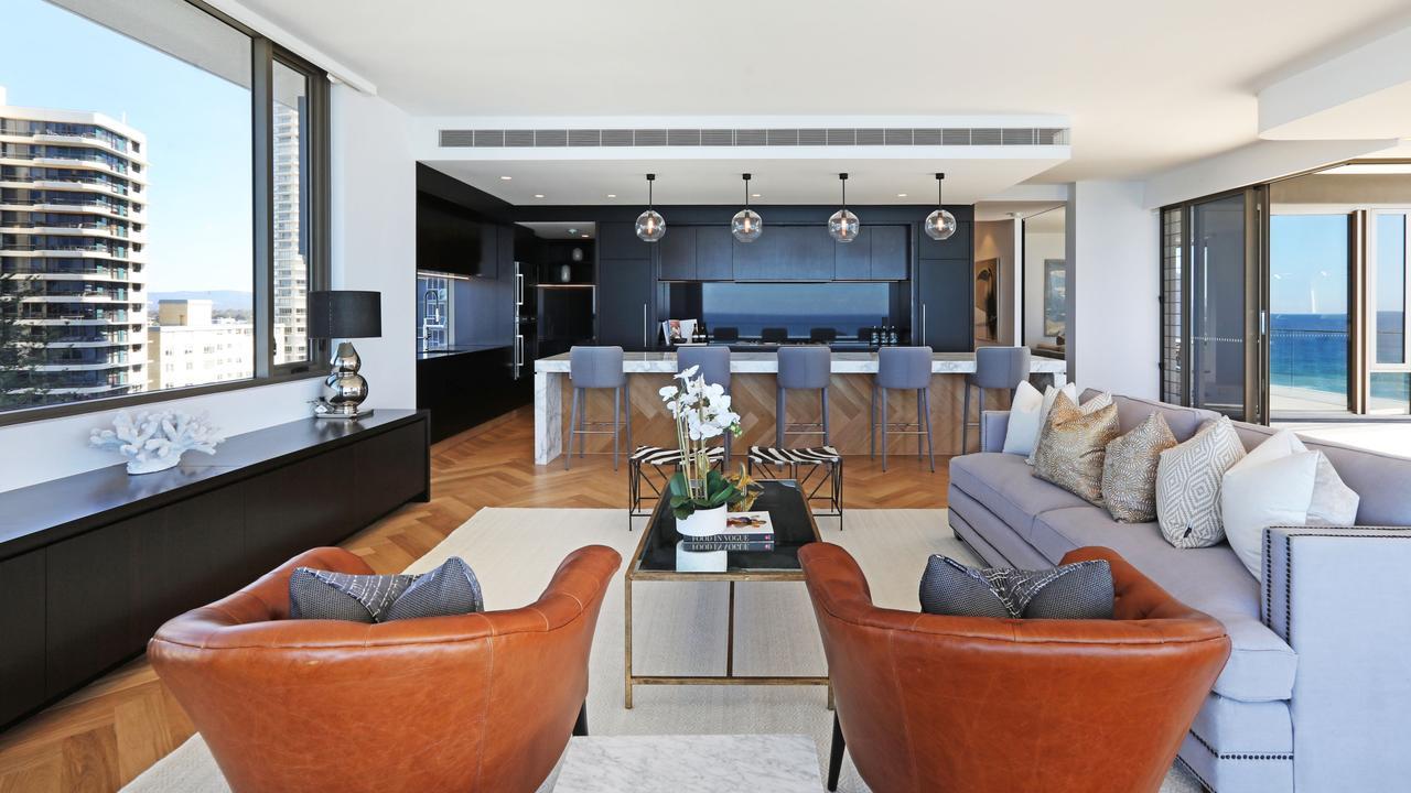 Acclaimed Gold Coast architect Bayden Goddard designed the property.
