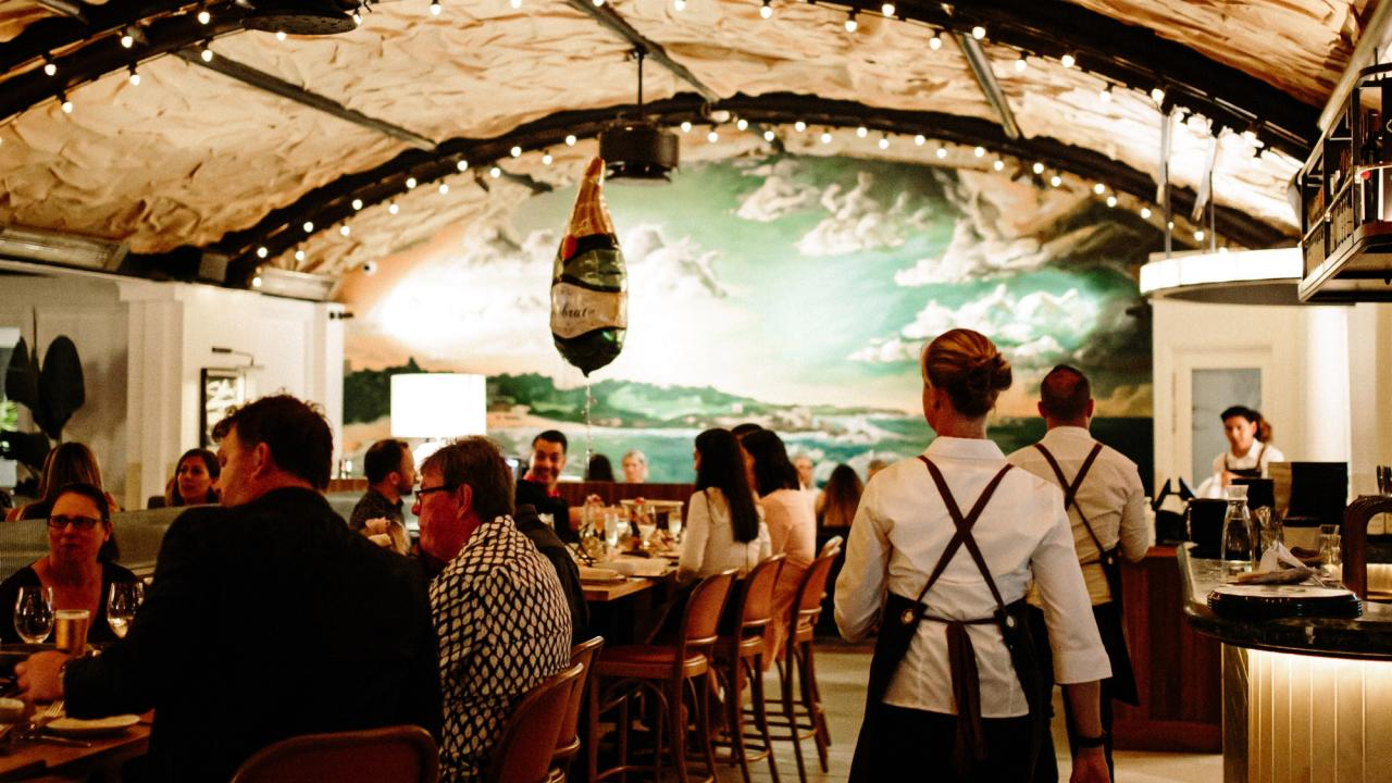 Marrah restaurant's interiors are inspired by its coastal surroundings. Picture: Marrah restaurant
