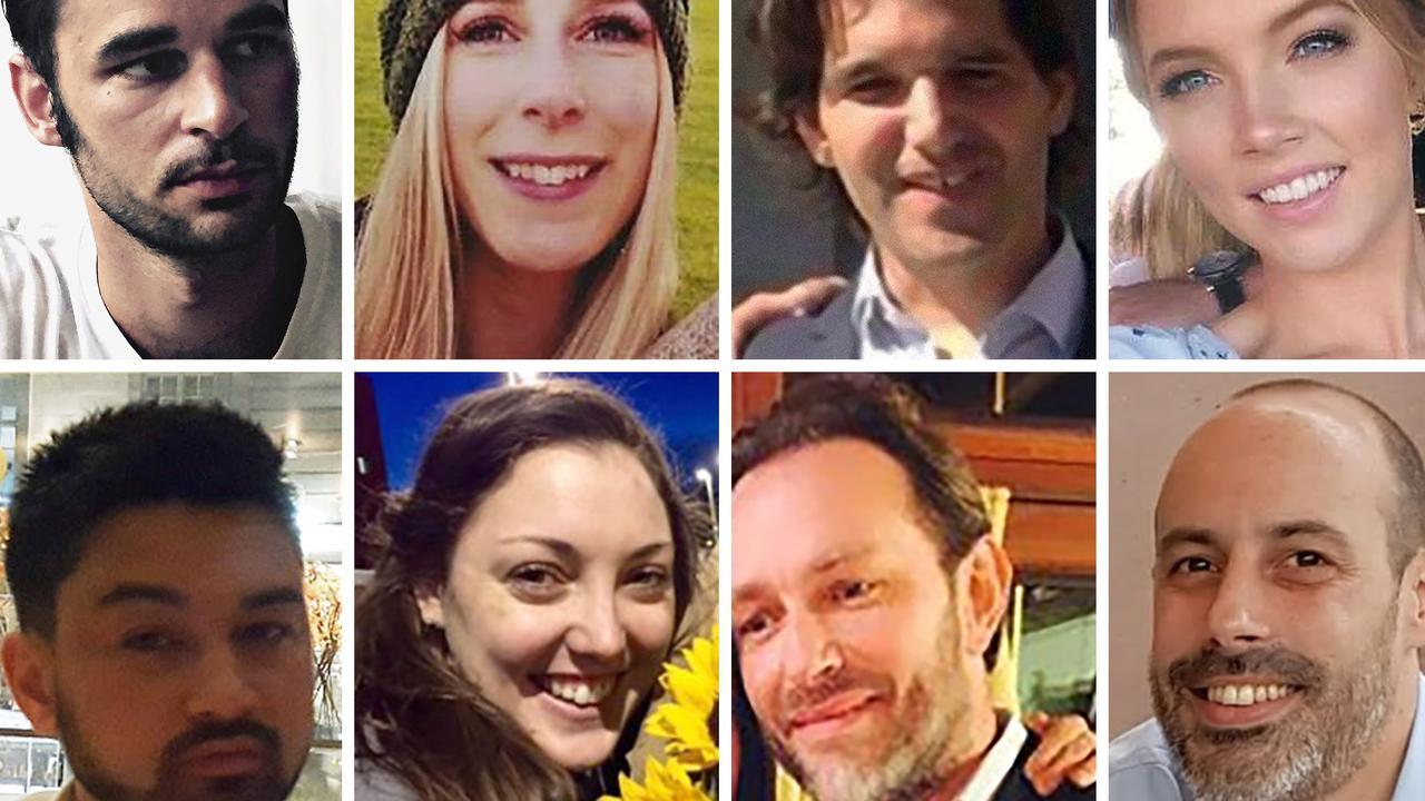 Ms Zelenak was one of eight people killed in the attack. They were (top, from left) Alexandre Pigeard of France, Christine Archibald of Canada, Ignacio Echevarria of Spain, Sara Zelenak of Australia, (bottom, from left) James McMullen of Britain, Kirsty Boden of Australia, Xavier Thomas of France, and Sebastien Belanger of France. Picture: AFP Photo / family handout / Sosdesaparecidos / Metropolitan Police