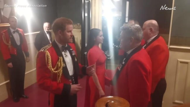 Harry and Meghan arrive for Mountbatten Festival of Music