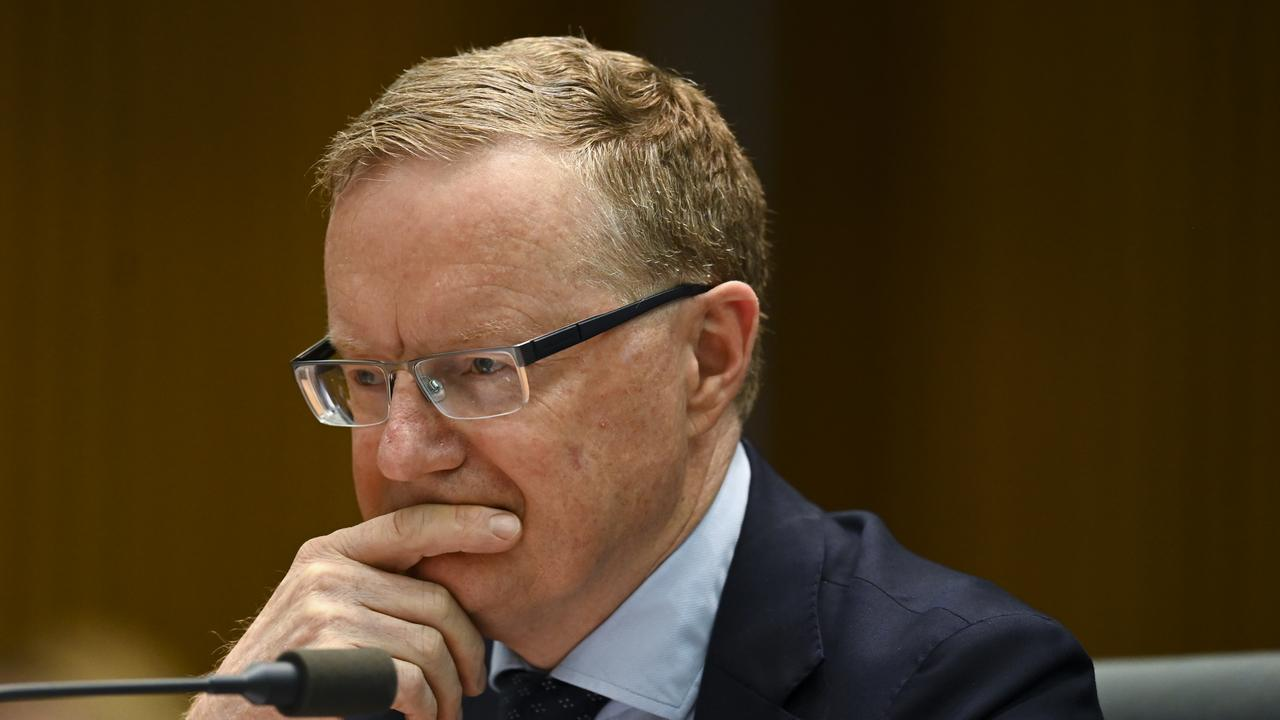 RBA governor Dr Lowe says he's disturbed by CEO salaries. Picture: AAP Image/Lukas Coch