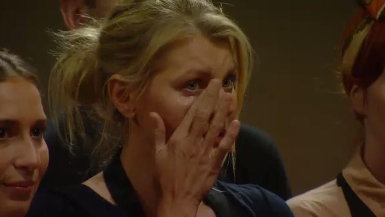 Meanwhile, contestants wiped tears from their eyes. Picture: Channel 10