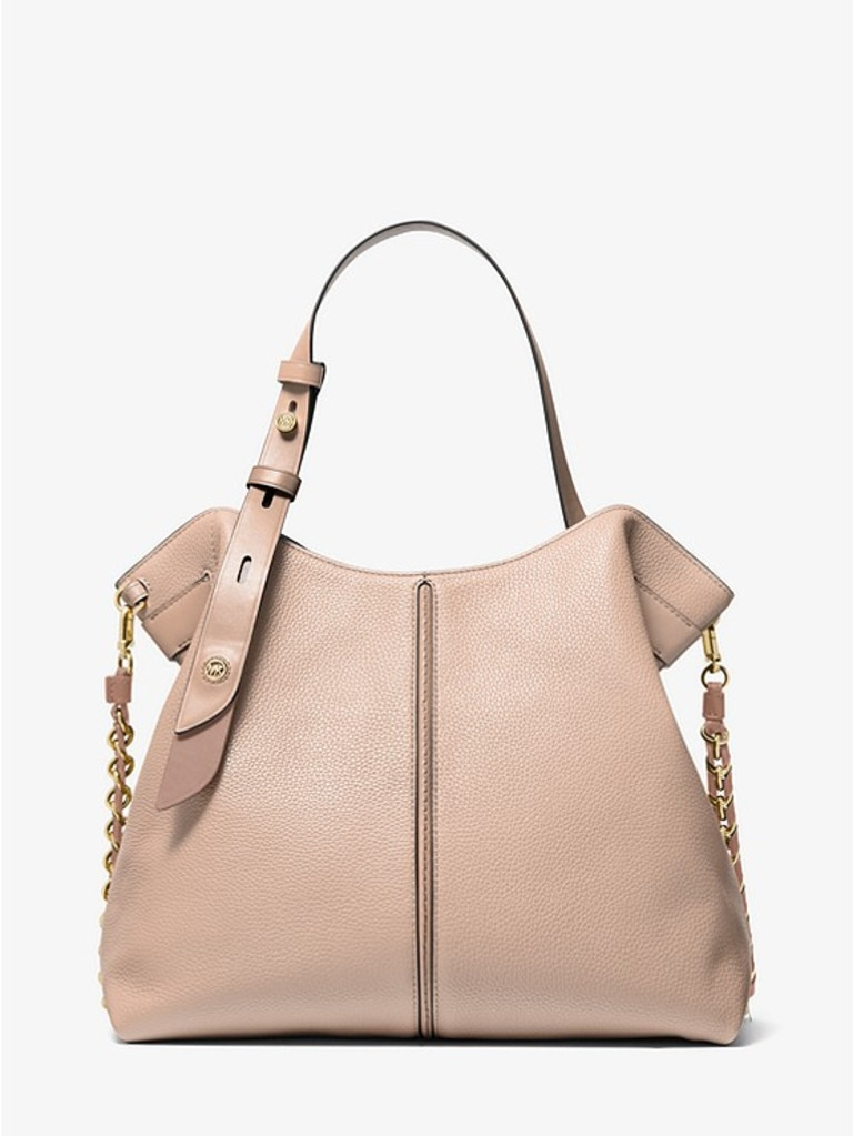 Michael Kor's Downtown Astor Large Pebbled Leather Shoulder Bag has been reduced to $389 from $649. Picture: Michael Kors.