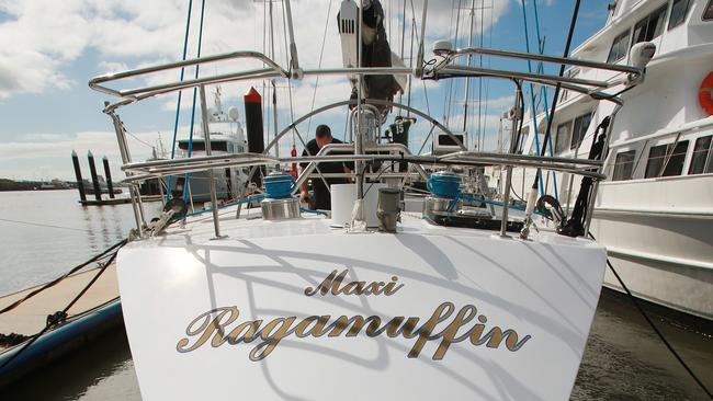 Sydney to Hobart winning yacht <i>Ragamuffin</i>, aka <i>Bumblebee IV</i>, hit the market following the collapse of Nant Whisky. Picture: Claudia Baxter