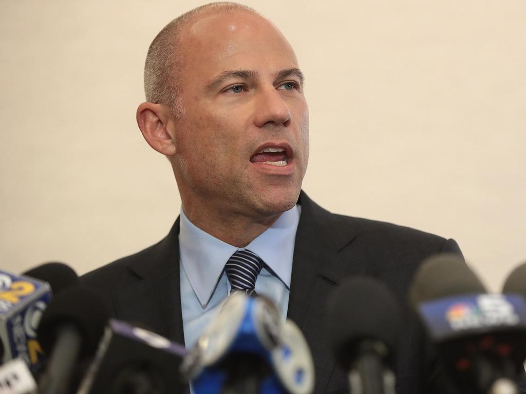 Michael Avenatti holds a press conference to discuss the arrest of R & B singer R. Kelly. Picture: Getty