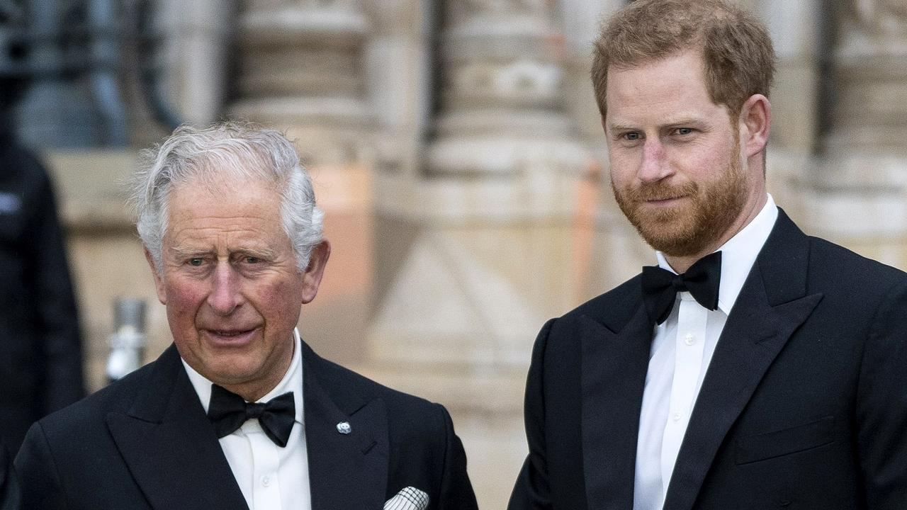 Prince Harry's relationship with his father has deteriorated in recent years. Picture: AFP
