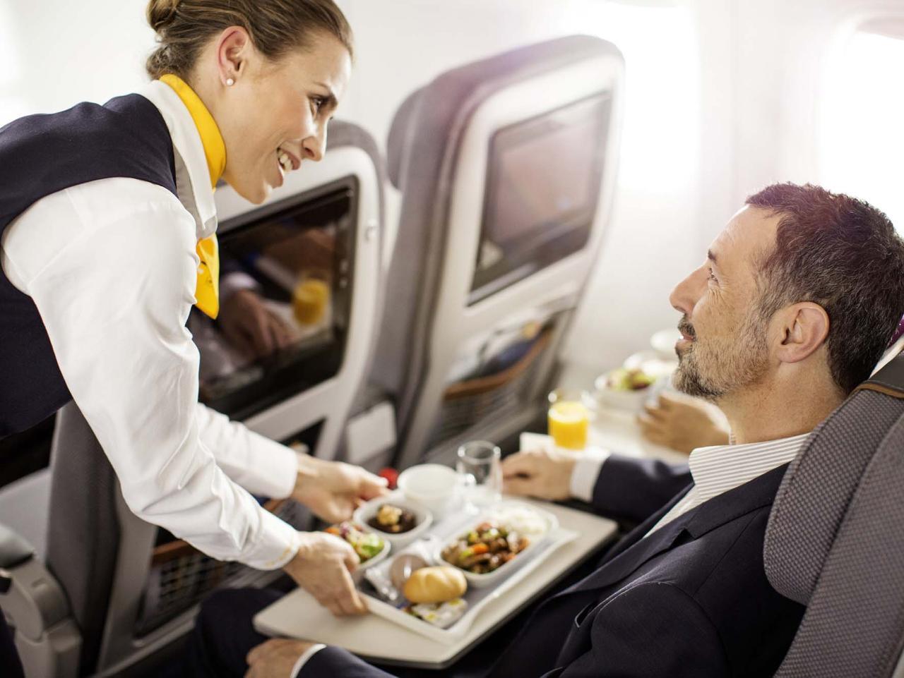Lufthansa's seats.