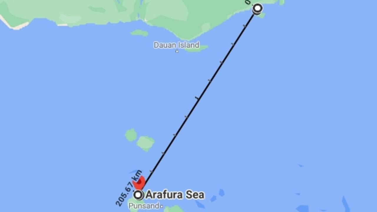 Daru lies just 200km away from mainland Australia.