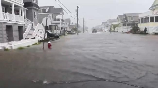 Heavy Rain From Tropical Storm Fay Floods Jersey Shore