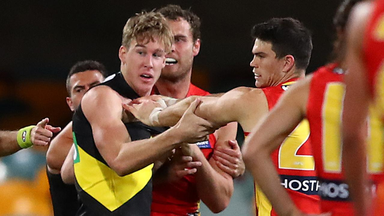 Tom Lynch is set to be cited by the Match Review Officer. Photo: Jono Searle/AFL Photos/via Getty Images.