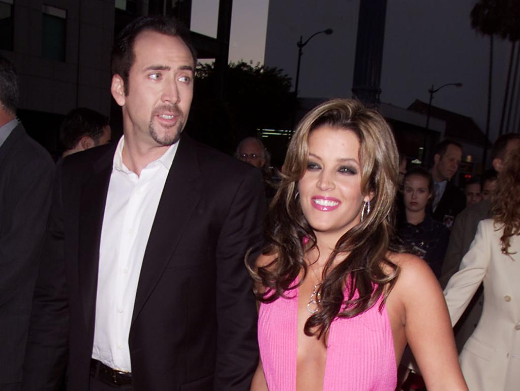 Nicolas Cage and Lisa Marie Presley. Picture: Kevin Winter/Getty Images