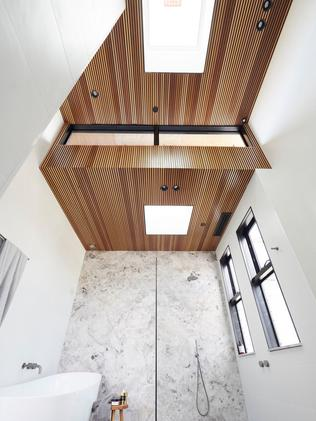 This wooden panel ceiling a standout feature. Source: The Block