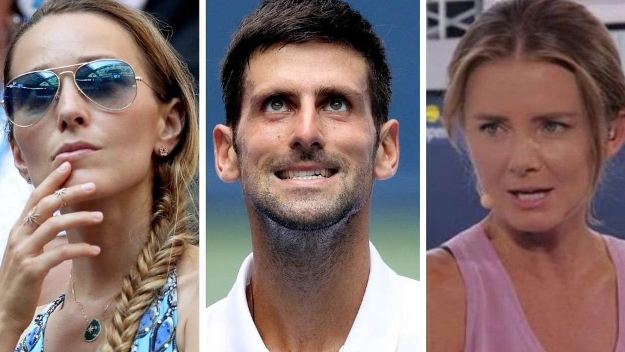 Jelena Djokovic, Novak Djokovic and Daniel Hantuchova.