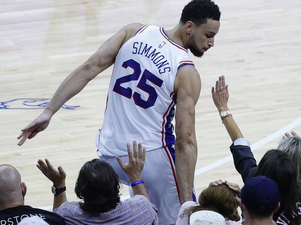 Ben Simmons attacked the fans more times than he did the rim.