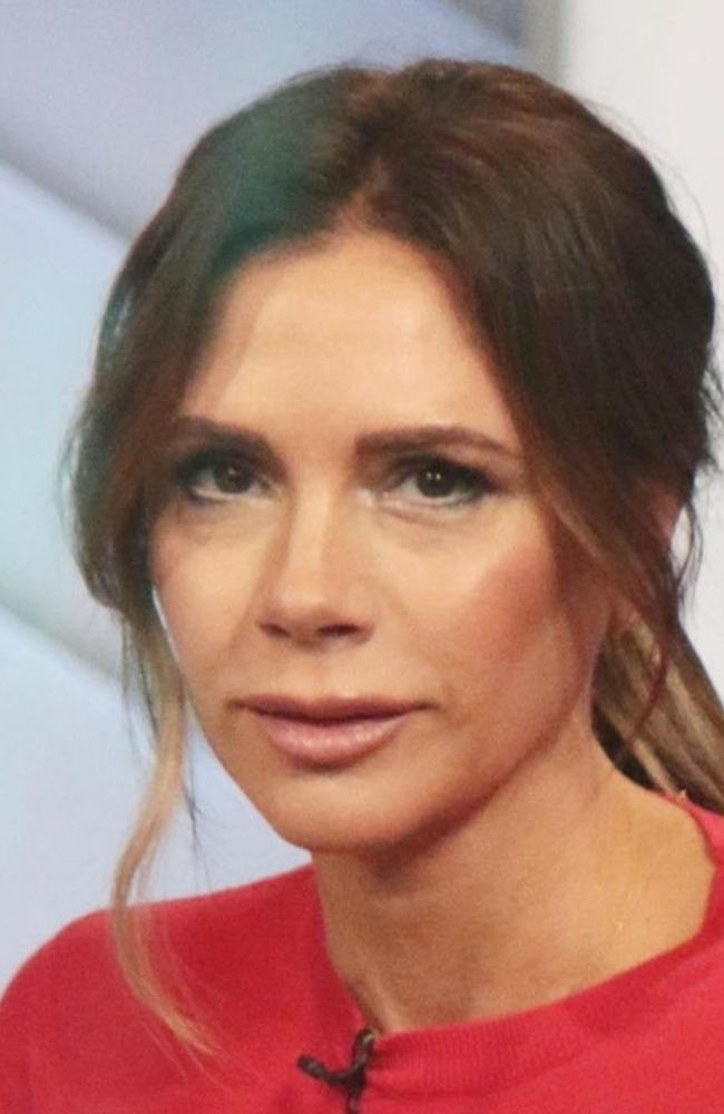 Victoria Beckham, pictured today on GMA, previously said 'never say never' when asked if she'd had any cosmetic procedures back in 2019. Picture: Backgrid