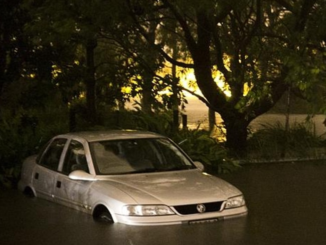 The Manly Dam has spilt causing low level flooding.
