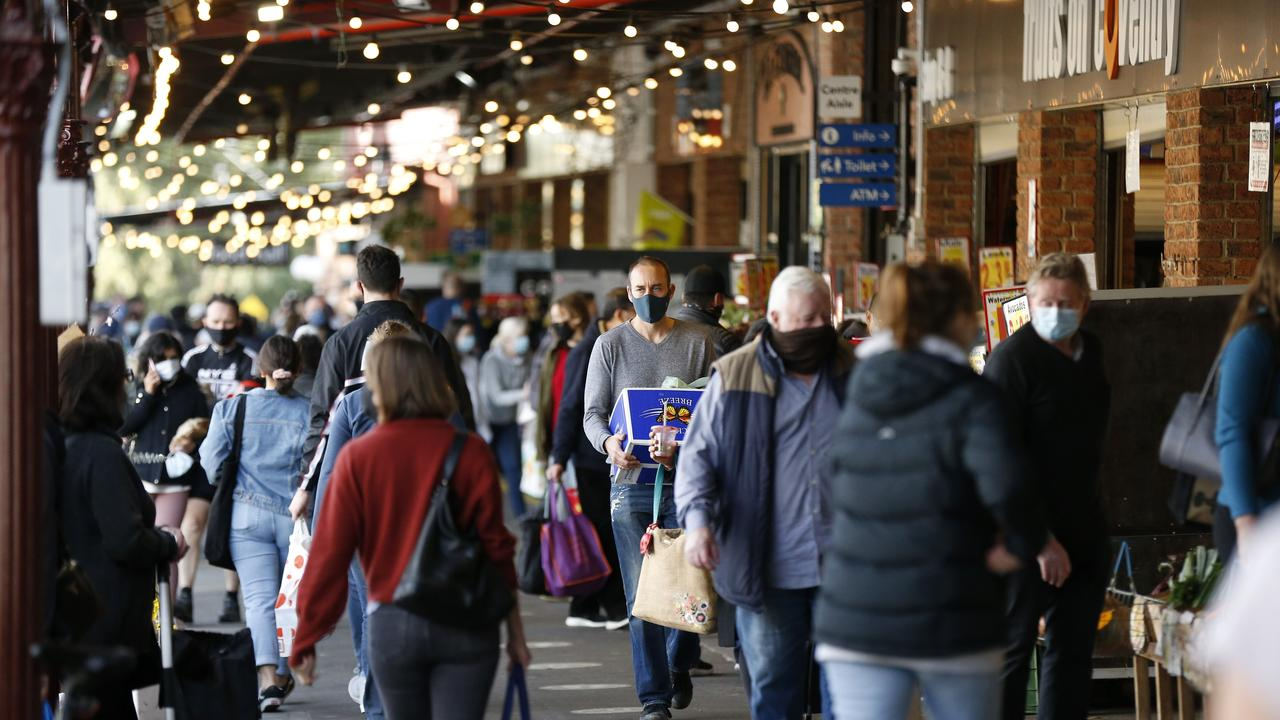 Several stalls at South Melbourne Market were added to the exposure sites list on Tuesday. Picture: Darrian Traynor/Getty Images