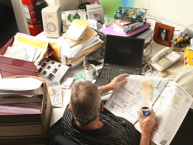 Divide and conquer: the battle for desk space sovereignty is waged daily.