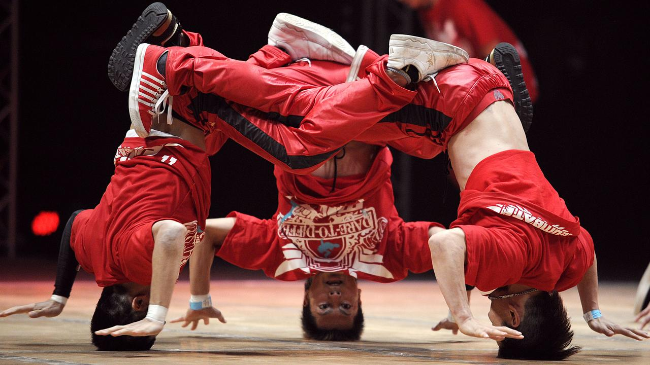 """Mortal Kombat from Japan perform during the first part of the """"Battle of the Year"""", an international competition of breakdance. Picture: AFP"""