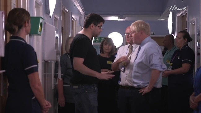 Boris Johnson confronted by angry parent over NHS cuts during hospital visit