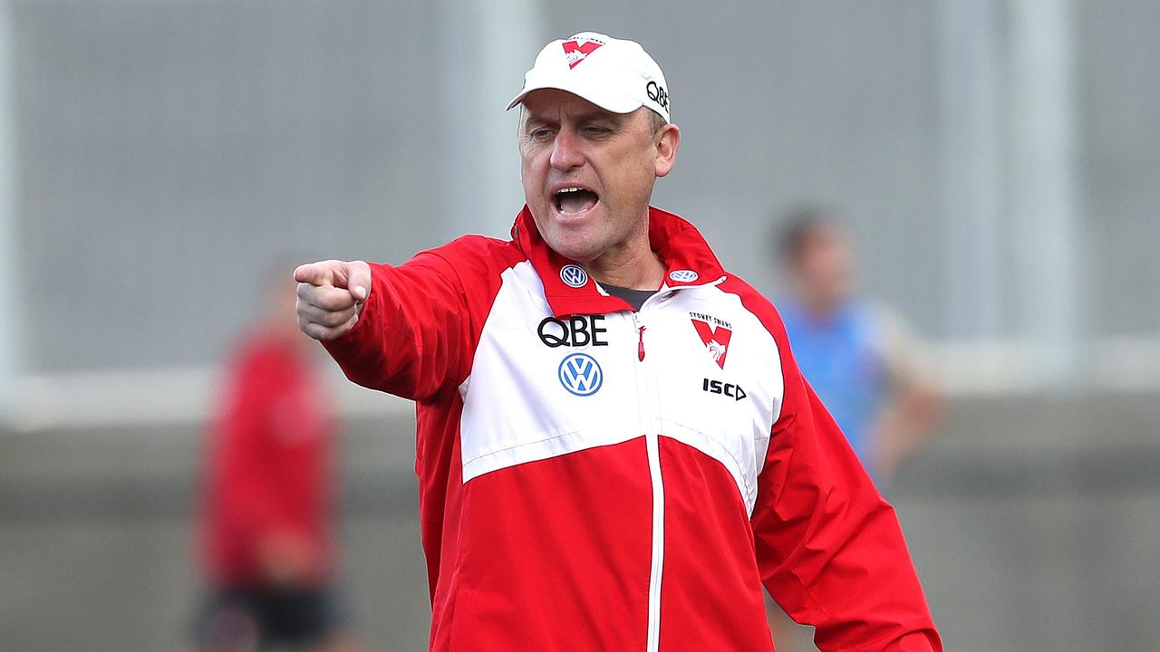 Sydney coach John Longmire is in the middle of an awkward tug of war. Picture: Phil Hillyard