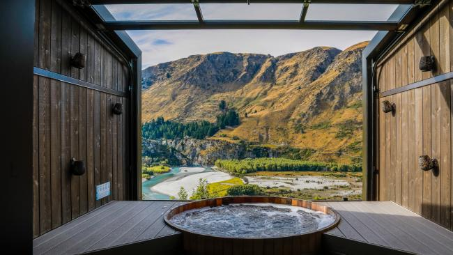Level up and soak at Onsen Hot Pools, Queenstown. Picture: Matt Finlay