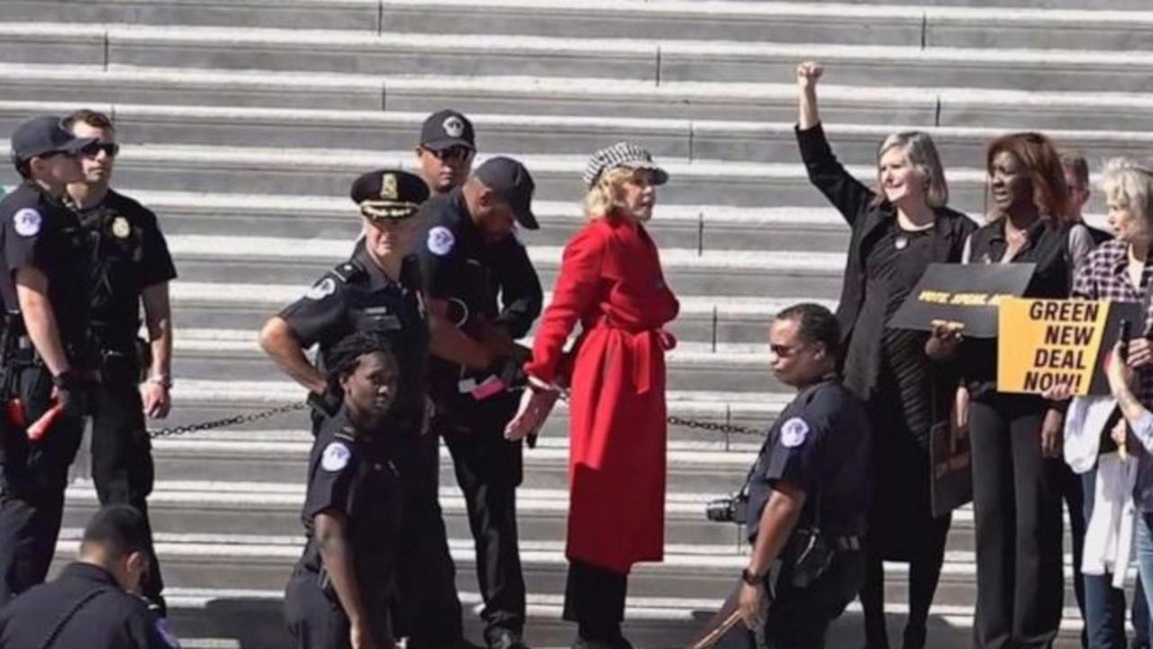 Jane Fonda arrested in Washington, DC. Picture: ABC News