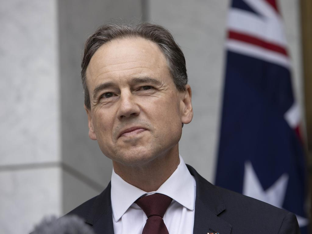 Greg Hunt said Australia has invested in four vaccine candidates. Picture: NCA NewsWire / Gary Ramage