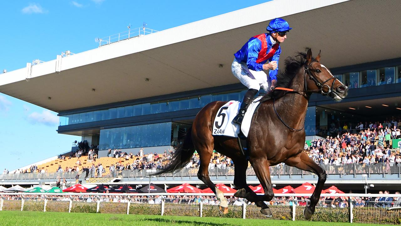James McDonald rides Zaaki to a commanding victory in the Doomben Cup. Picture: Trackside Photography