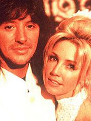 Heather Locklear with ex-husband Richie Sambora. Picture: Supplied