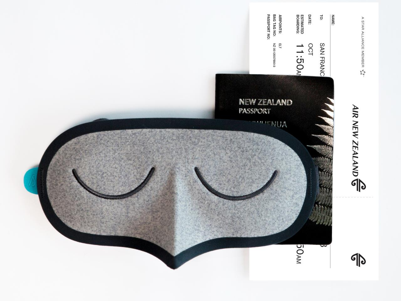 New Air New Zealand eye mask. Picture: Supplied