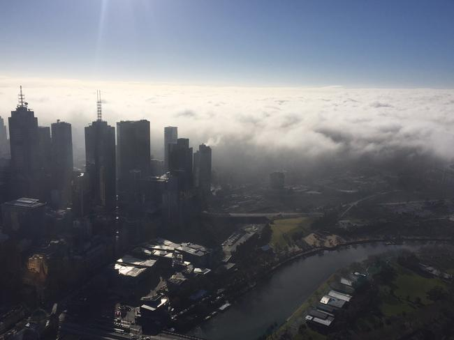 Here it comes. Picture: Eureka Skydeck 88.