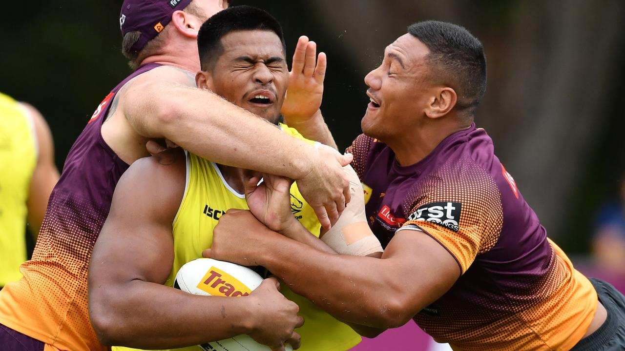 Payne Haas has been named in Brisbane's squad for the trial clash with Souths-Logan. Picture: AAP